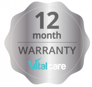 Vitalcare 12 month warranty